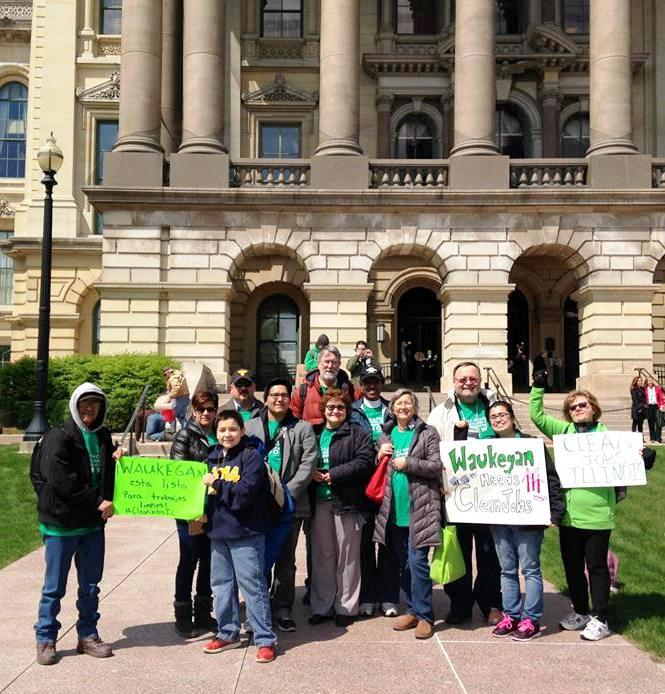 The Clean Power Lake County delegation is ready to lead the charge for passage of the Illinois Clean Jobs Bill . [Photo by Alex Morgan/Sierra Club.]
