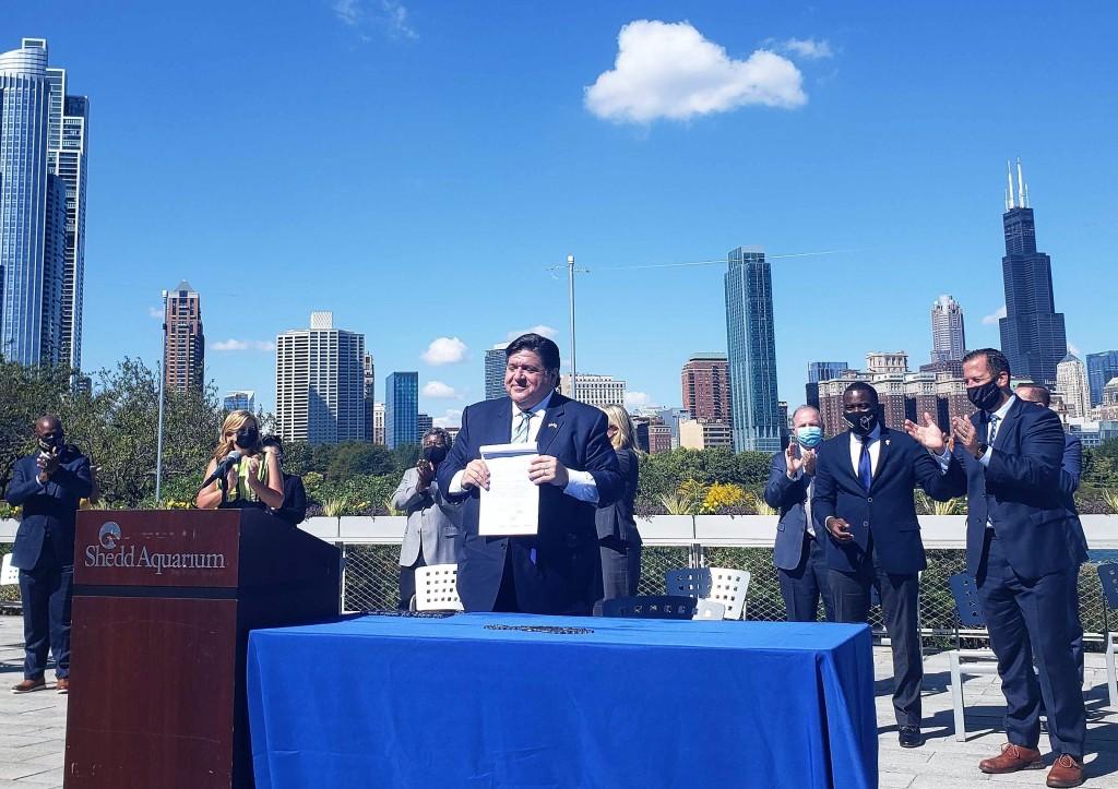 Governor Pritzker at Chicago lakefront